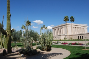 Arizona Temple cactus garden
