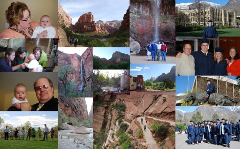 Kevin and Susanna graduate, Jackson is blessed and Guys trip to Zion