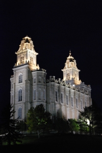Manti Temple at night