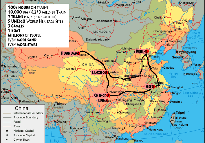 My great china train trip adventure patches map of our china train trip gumiabroncs Image collections