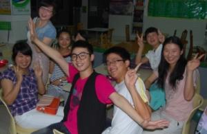 some students at the dance party