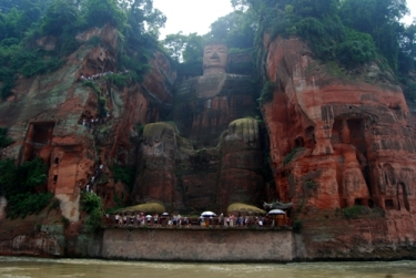 biggest buddha in the world in Leshan, Sichuan