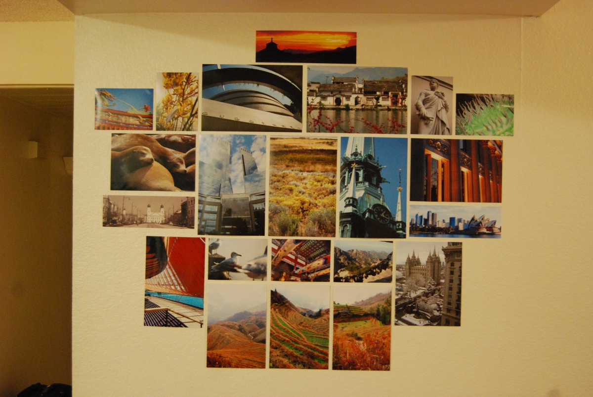 Photos on my wall in my current apartment