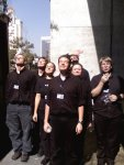 My friends in black as stage manager of the BYU Young Ambassadors