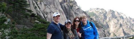With friends at Huangshan in China