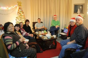 Christmas party with foreign teachers in China