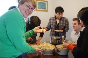 Making dumplings at Jamie's