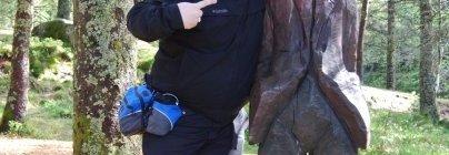 Kevin Earl in Bergen Norway with troll