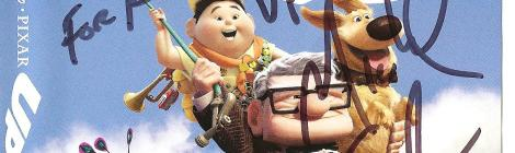 Up Blu-ray cover signed by Michael Giacchino