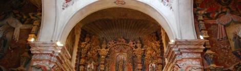 Inside San Xavier Mission