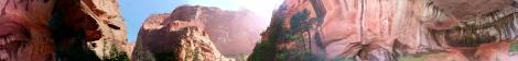 Kolob Canyons Taylor Creek Trail panorama