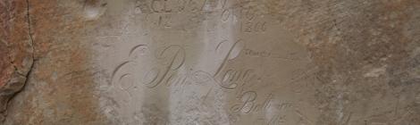 El Morro National Monument cursive inscription