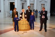 with the Lincoln family at the Abraham Lincoln Museum and Library in Springfield, Illinois