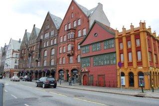 building fronts in Bergen, Norway