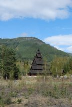 a stave church in Norway from the 12th century