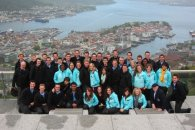 with the BYU Young Ambassadors overlooking Bergen, Norway