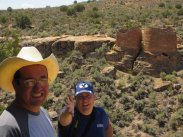 with my brother-in-law at Hovenweep National Monument on the border of Utah and Colorado