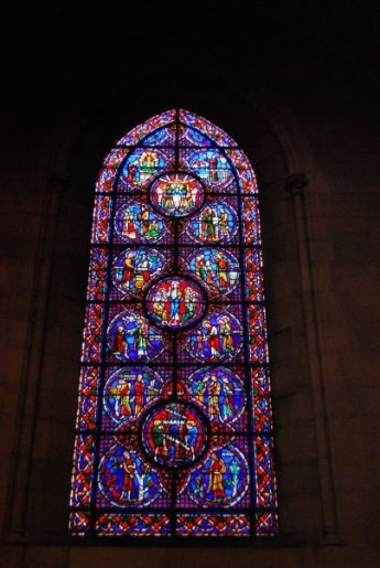 stained glass at The Riverside Church in New york city
