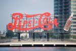 Pepsi sign in Brooklyn visible from Roosevelt Island
