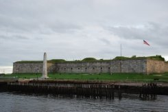 old star fort in Boston harbor