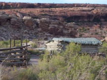 old ranch house in Arches National Park