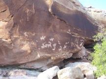 Petroglyphs at Arches National Park