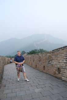 I am a man on the Great Wall of China