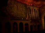 the beautiful frescoes in the Orpheum Theater