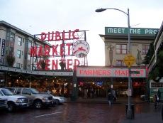 Market entrance in Seattle