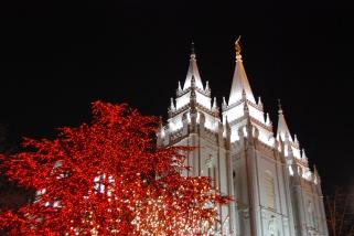 the Salt Lake Temple at Christmas