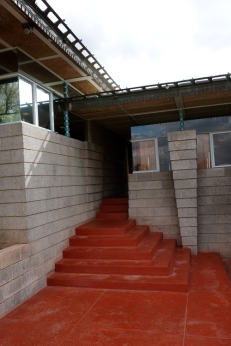back entrance to bedroom wing