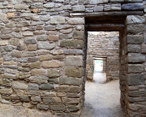 inside the walls of Aztec Ruins National Monument