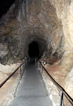 walking into Carlsbad Caverns National Park