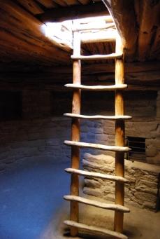 inside Spruce Tree House Kiva at Mesa Verde National Park