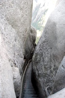 staircase on trail at Huangshan